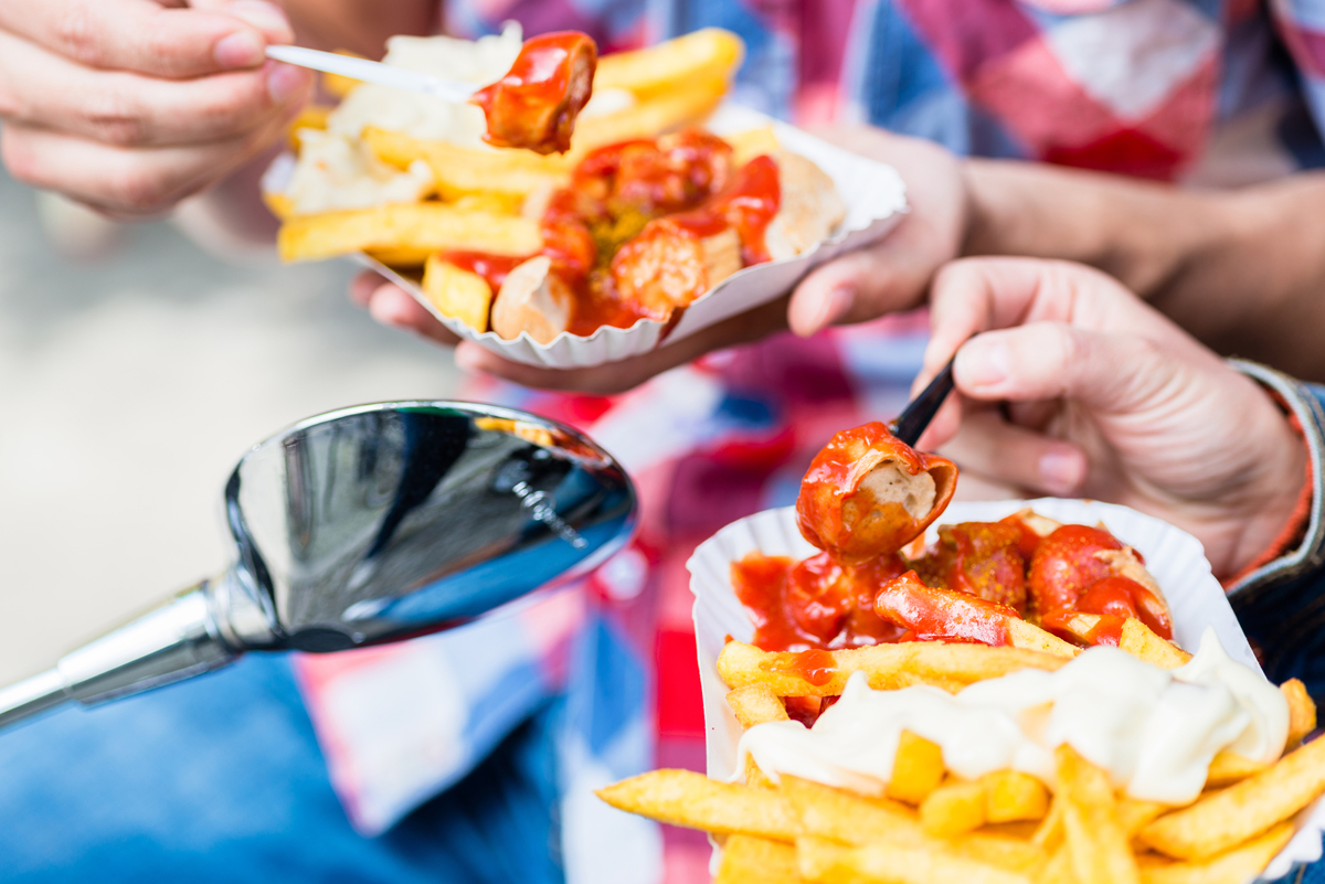 Currywurst, fast food in Germany