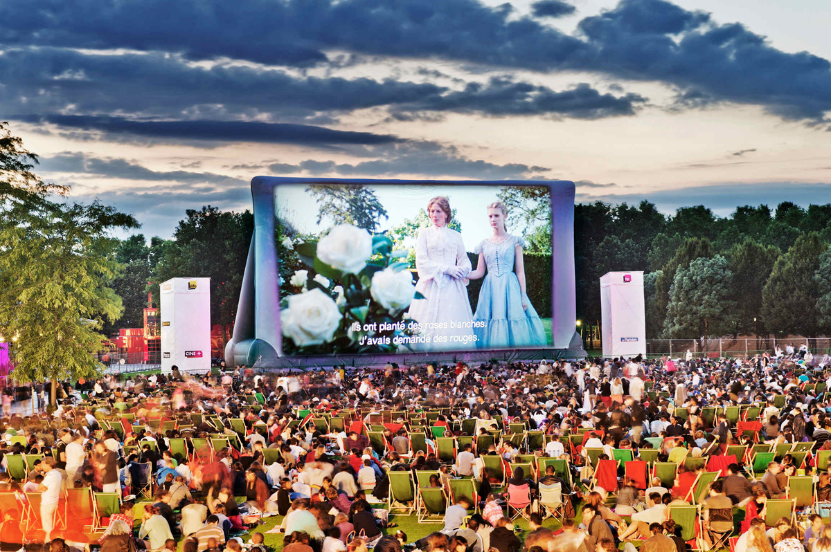 free open cinema in Paris