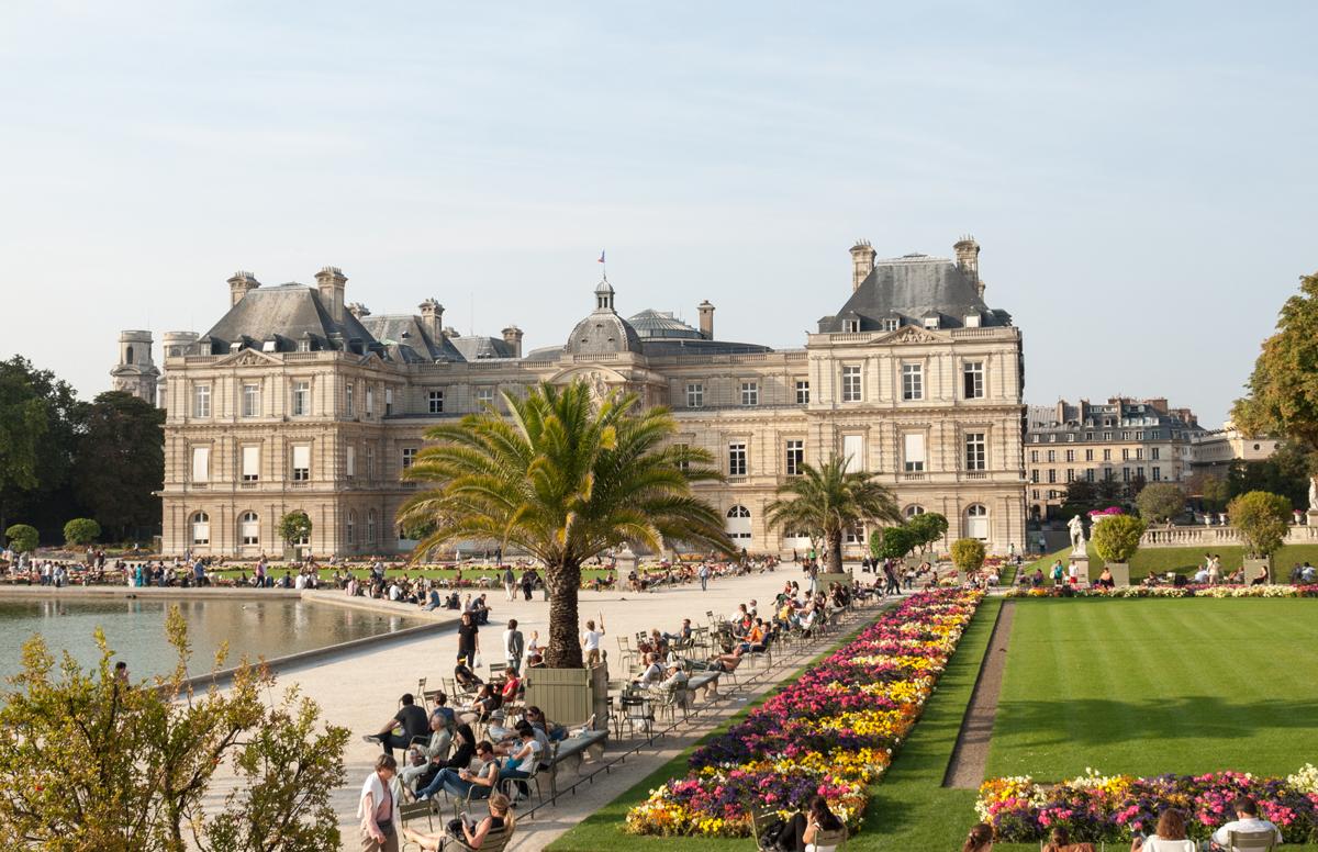 The Luxembourg Garden in Paris.