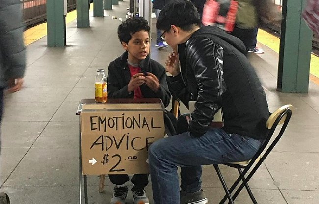 emotional advice from kid in New-York